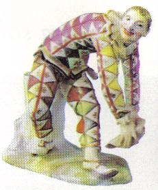 Harlequin, by Bottger - Porcelain of the XVIIIth century