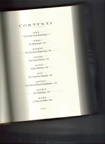 Harry Potter  - HPDH table of contents. Enjoy the spoiler ( if it's not fake)