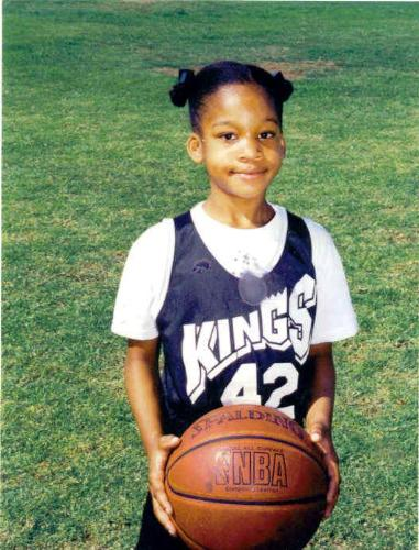 My Youngest Niece -  This is a picture of my youngest niece when she played basketball one year. Needless to say, it did not last. She is far to silly to be serious about the game.