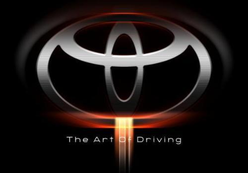 toyota logo black. Toyota Logo on lack