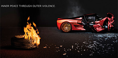 burnout dominator psp ad and wallpaper - this is a sony
