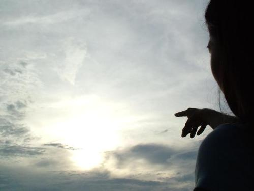pointing to the sun - Me pointing at the sun :D