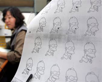 koreans animating the simpsons! - the koreans reall did a great job in animating the simpsons! :)