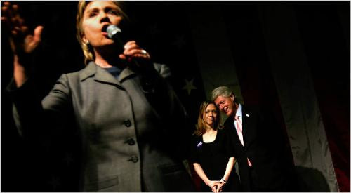 The Clintons with Daughter Chelsea - Chelsea Clinton is very close to her parents