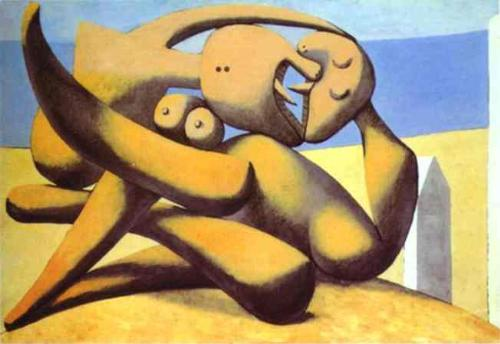 Figures on a Beach by Picasso - Figures on a Beach by Picasso as an example of non-realistic type of thinker.