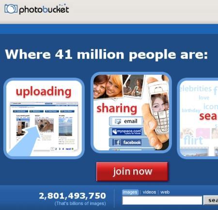 photos in a bucket. - Photobucket!
