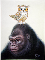 K Chin is the man - Owl on a gorilla