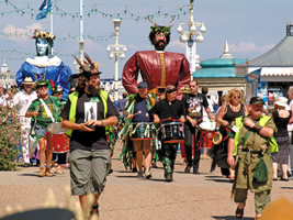 Eastbourne Lammas Parade - Lammas Parade with Eastbourne Giants, Herne and Andred.