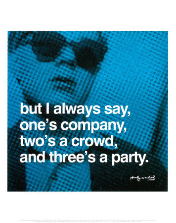 One company, two's a crowd, three's a party - Do you think that?