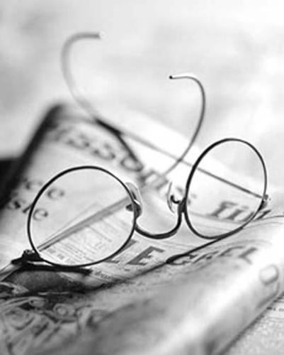 eyeglasses - eyeglasses worn when reading. they are customized to fit a person's vision depending on the damage.. whether near-sighted or far-sighted.