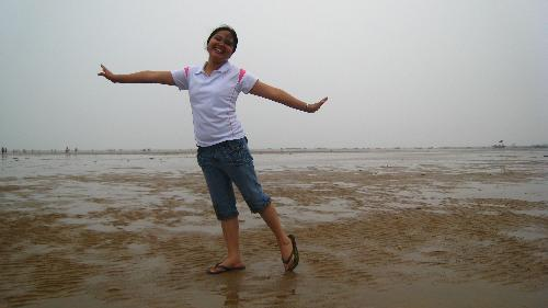 ballet on the sand - company outing, shandong china