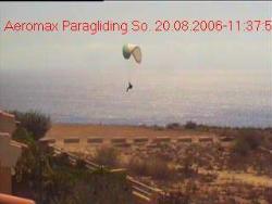 www.paragliding.es.tt - picture by the webcam of Paragliding Santa Pola, Alicante (Spanien, Spain)