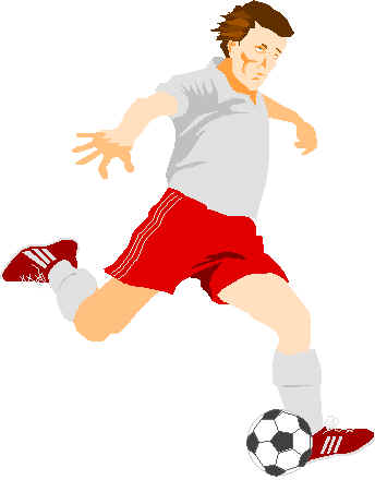 going for goal! - a soccer player.