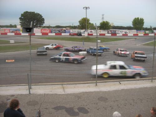 Flag Pole Racing Action - Awesome and fun filled action in this type of race.