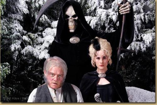 The Hogfather - Seen here is Death, his Granddaughter Susan and his aide Alfred.