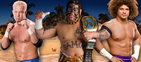 Carlito, Umaga and Mr Kennedy - Umaga Vs Carlito Vs Mr Kennedy for the Intercontinental Championship at Summerslam