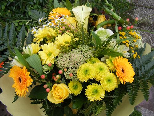 beautiful bouquet of flowers - bouquet of sunny flowers