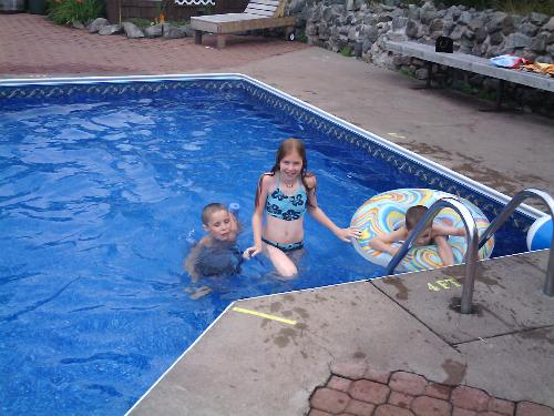 kids at the pool - my kids at the pool on our vacation