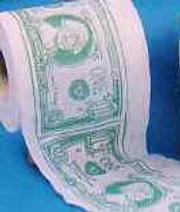 toilet paper dollars - Dollars printed on toilet paper