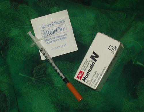 Are you afraid? - Supplies needed to give yourself an insulin shot.