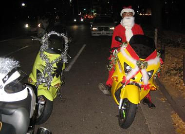 Riding high - Santa comes in many sizes and shapes.