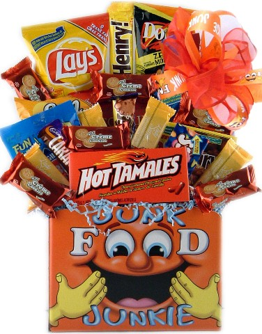 junkies - junk food are full of color and design but no good things to contribute.