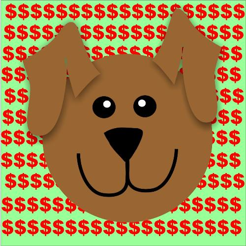 rich dogs - visual aid for discussion, original graphic art