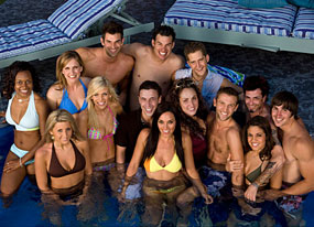 Big Brother 8 housemates - housemates in the pool