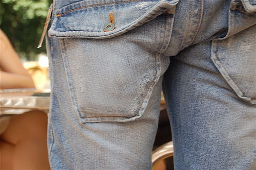 jeans - dry washed jeans is trendy