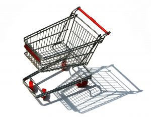Grocery Cart - A grocery cart for wanting to buy groceries.