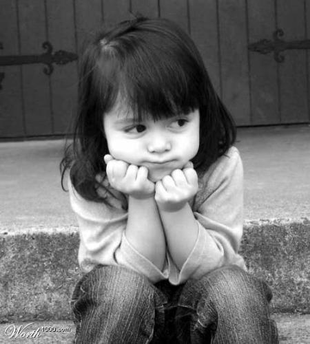 waiting for something to come - a child waiting innocently for something to come her way... just like me!