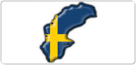 sweden - Map of sweden