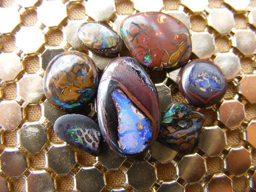 Group of Boulder Opals - Last boulder opals that I polished before stopping with my Opals hobby.
