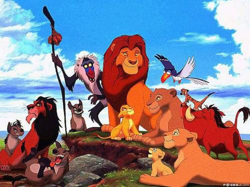 Simbas, a lion , the king of the animals - The photo of the lion family, is full of love and kind smile.