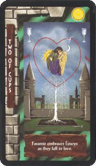 tarot - tarot card : two cups
