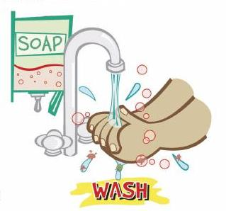 hand washing - this picture shows us that we should always wash our hands to keep it clean.