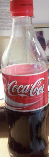 Coca Cola - Today's bottle of half drunken Coca Cola