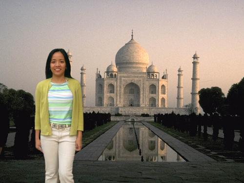 miracles - this my picture edited to be in taj mahal