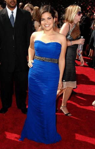 America Ferrera in Emmy Awards - Look stunning in a blue gown
