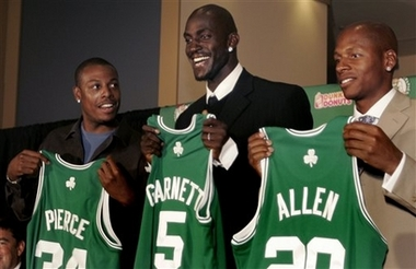 Celtics - KG, Pierce, and Allen all play for the celtics now? celtic glory revived?