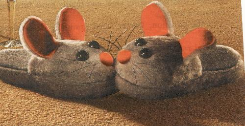 slippers - mouse slippers