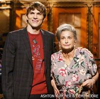 Ashton & Demi? - Ashton Kutcher and Demi Moore on the Saturday Night Live Show, making fun of their age difference.