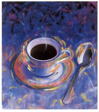 Cup of coffee - This is a photo of a cup of coffee, I found it in yahoo photos