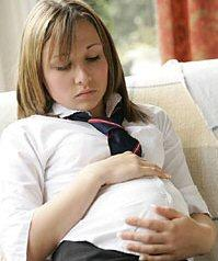 Teen Pregnancies - this is a picture of a teen mom who will have a baby soon.