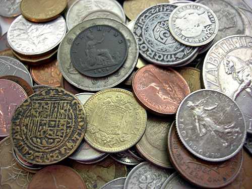 old coins - lotsa coins in here