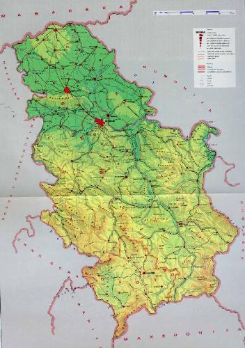 Srbija - Map of serbia