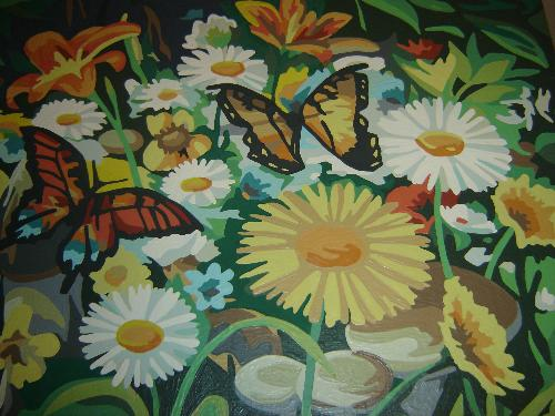Butterfly Painting - This is a small portion of a picture I painted several years ago. It was done in oils.