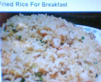 fried rice breakfast - this my favorate breakfast fried rice and pandisal.