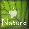 I heart nature icon - an icon I made for my natural blog.