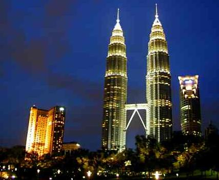 PetronasTwin Towers - Petronas Twin Towers are the world's tallest twin towers and second and third-tallest singular towers,standing adjacent to one of the busiest shopping malls in Malaysia...Suria KLCC